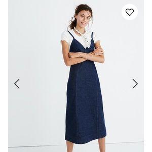 Madewell Denim Cami Midi Dress